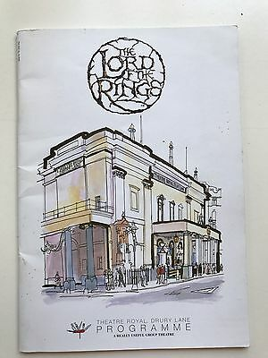 Lord of the Rings - Theatre Royal Drury Lane - London West End - 2007 Programme
