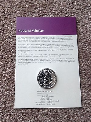 2017 Uk Royal Mint House Of Windsor £5 Five Pound Coin Bu On Card - Coin  Hunt #