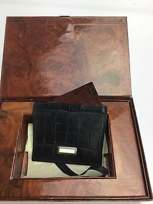 Stefano RIcci NWT crocodile black Credit card holder made in Italy retail $ 865