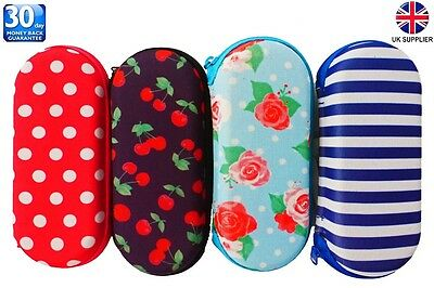 Glasses Case Zipped Hard Spectacle Case Protects Against Scratches Damage