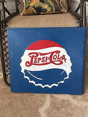 1940's Pepsi  Cola Double Sided Cooler Bottle Cap Lid Sign