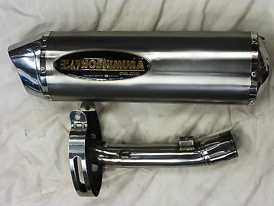 Suzuki 650 Bandit Yoshimura Oval Cone Race Exhaust Pipe  Race Can + Links