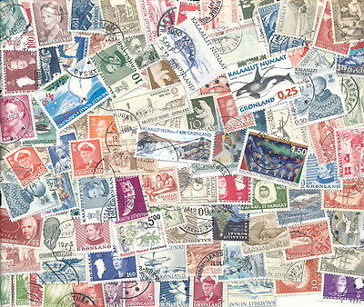 ...Greenland 100 Different used...