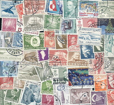 .....Greenland 50 Different used.....