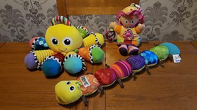Lovely Lamaze Bundle Of Soft / Sensory/ Activity Baby Toys - 3 Toy Bundle.