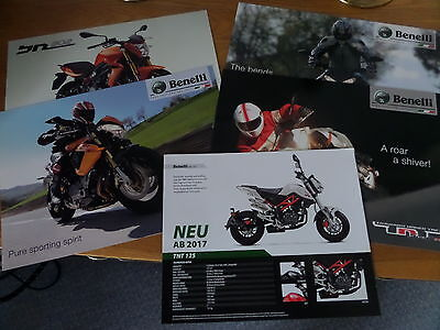 Benelli Motorcycle Sales Brochures - Qty 5 All different