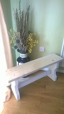 Shabby Chic Wooden Bench rustic  kitchen hallway conservatory porch solid wood