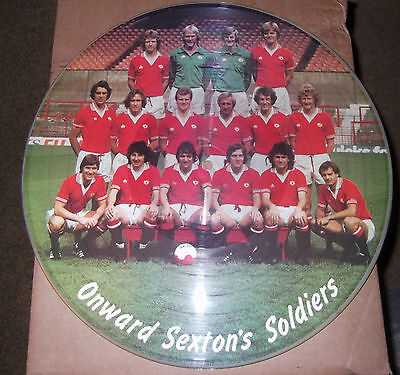 """Ultra-Rare 1979 12"""" Picture Disc Lp - Manchester United Team - Sexton's Soldiers"""
