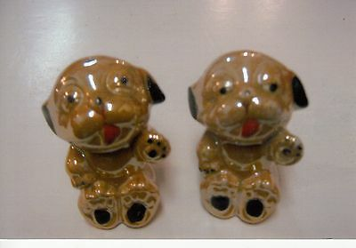 LUSTREWARE DOG  SALT and PEPPER SHAKERS-MADE in JAPAN