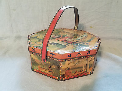vintage Hiawatha's Wedding Journey Biscuit Tin Loose Wiles