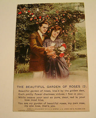 B & Co Song  Postcard The Beautiful Garden of Roses no2