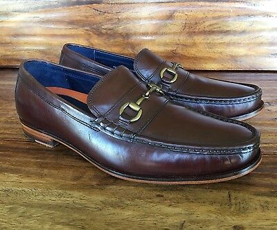 Men's Cole Haan Dress Bit Loafers Brown Leather 10.5 D