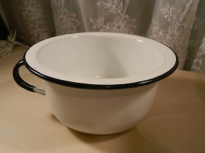 White Enamelware  Chamber Pots Potty Chair Childs Vintage