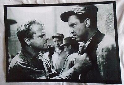 James Cagney and Edmond O'Brien in White Heat 1949 Gangster Film A4 Print