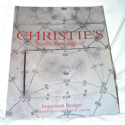 Christie's -South Kensington - Important Design - 94 pgs. - Oct 2001 - EXCELLENT
