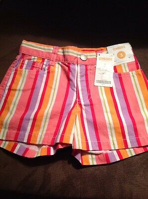 New Girl's GYMBOREE Striped Shorts With Adjustable Waist, Size 3