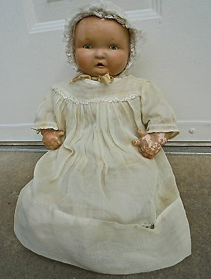 """Vintage Effanbee Doll Lambkin Compo & Cloth 17"""" Dressed Age Appropriate 4 Tlc"""