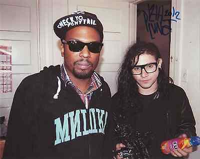 "12th Planet (Skrillex,Diplo)   Signed Autographed 8x10"" Photo"