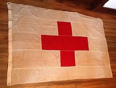 Vintage American Red Cross Flag, Double Sided