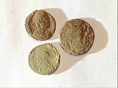 3 ANCIENT ROMAN COINS PREMIUM AE3 - Uncleaned and As Found! - Unique Lot 13703