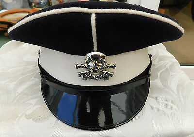 LATER THAN WW2 OFFICERS ? 17th 21st 17/21 LANCERS CAP HAT DEATH OR GLORY BADGE