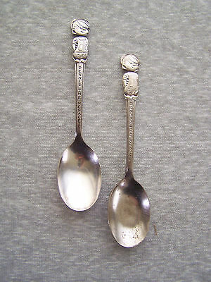 2 Vintage 1960's  Kellogg Cereal Premium Dennis The Menace Silverplate Spoons