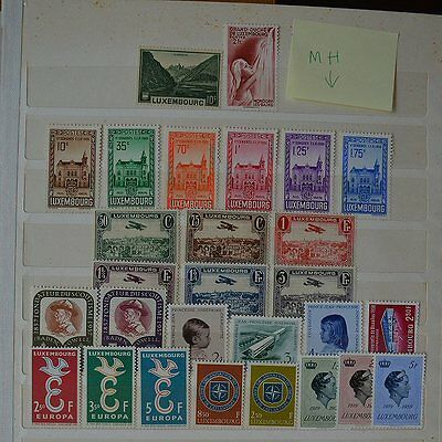 1935-1959 Luxembourg Stamp Collection MH (O005Luxembourg)