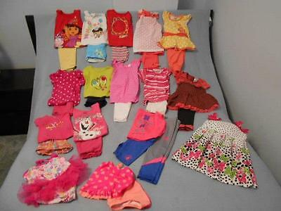 30 Pc Mixed Lot Girls Size 3-3T Used Summer Clothing