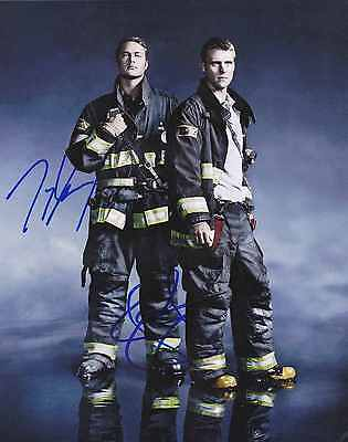"Taylor Kinney + Jesse Spencer Chicago Fire PD  Signed Autographed 8x10"" Photo"