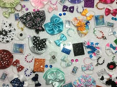 Littlest Pet Shop LPS 6 PC Clothes ACCESSORIES Random Bow Skirt Necklace & More