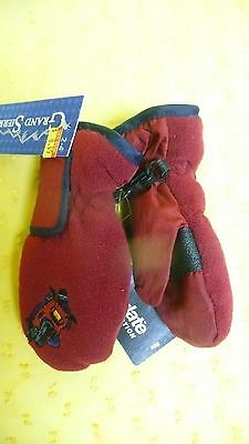 Grand Sierra Mittens w/Motorcycle Guy Boys Size 2-4 Thinsulate Fleece Lot#916