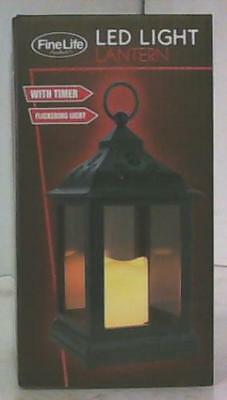 NEW Fine Life Products LED Flickering Light Lantern with Timer