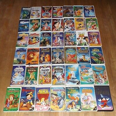 lot of 42 DISNEY Classic & Masterpiece vhs videos DUMBO Pinocchio FANTASIA