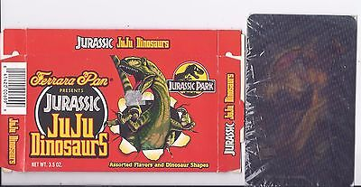 Jurassic Park 1997 The Lost World 3D lenticular card sealed & 1992 candy box