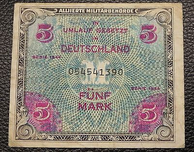 GERMANY - 5 mark - 1944 - Pick 193a (with F)