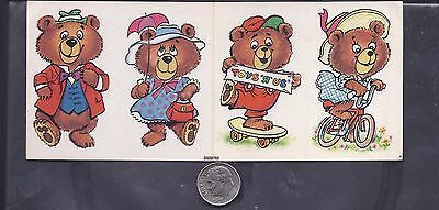 4 Post Cereal Bear stickers, 1987, Instant Winner Game Form,Toys R Us
