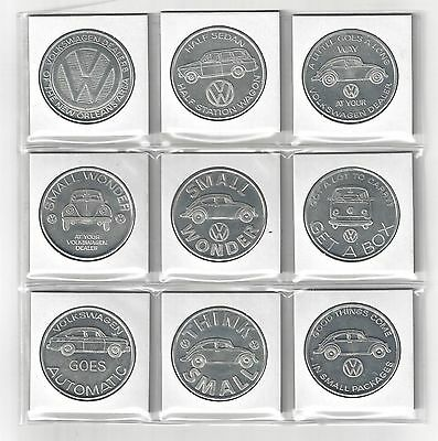 1969 Vw Volkswagen Beetle Coin Token Medallion Set New Orleans Saints Program