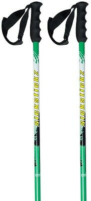 Sickstickz Powder Plunger Pair Of Ski Poles, 110cm, White/Green