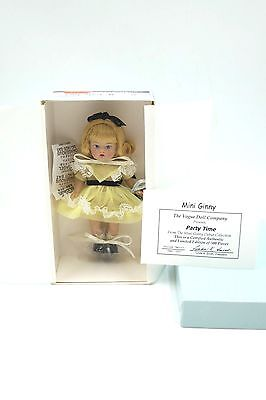 Mini Ginny Party Time Style # 7MG103 5 inch Vogue Doll Limited Edition COA