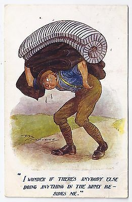 WW1 WWI BEF British humorous postcard by Reg Maurice