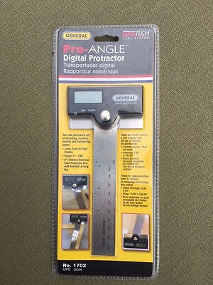 General Pro-Angle Digital Protractor #1702 New
