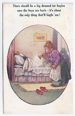 WW1 WWI BEF British humorous postcard by Tempest - Win the War stamp box