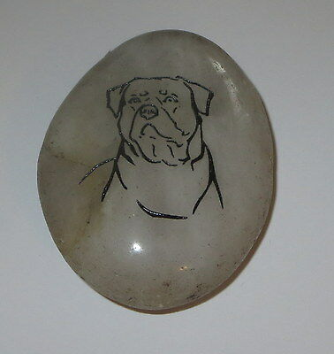 "Rottweiler Dog Rock Stone Accent New Light 2.25"" High Etching"