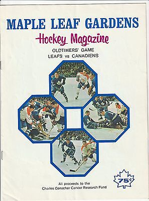 1971 Toronto Maple Leafs vs Montreal Canadiens Oldtimers Game Program & Ticket