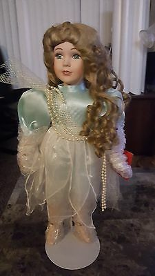 "ANGEL OF SEA PORCELAIN DOLL 16"" MARISSA HOUSE OF LLOYD Christmas Around World"