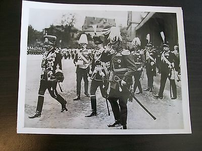 Germany's Kaiser Wilhelm Reviewing his troops in Branunsweig, Germany 1913 Photo