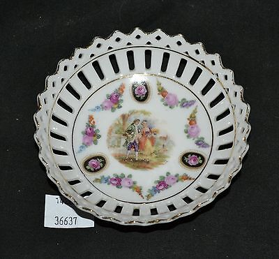 ThriftCHI ~ Bavaria Ceramic Reticulated Edged Butter Pat Dish