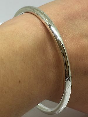 Old VINTAGE Solid Sterling Silver 925 Etched Bangles Bracelet 13 Grams