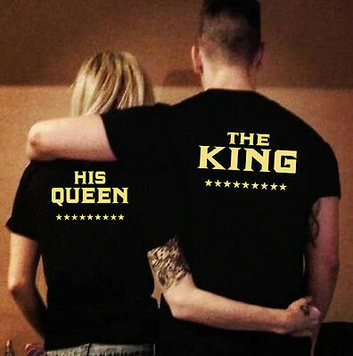 Couple T-Shirt The King and His Queen Love Matching TShirt Blouse Tee Top Hoodie