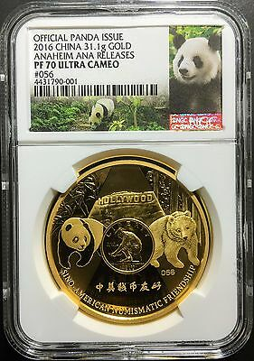 2016 1oz Gold NGC PF70 & 12 oz Silver NGC PF69 ANA 125th Anniversary Panda China